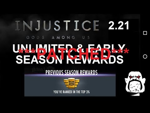 EARLY and Unlimited Credits & Shards: MP Season Rewards Glitch, Injustice GAU 2.21 (Android)