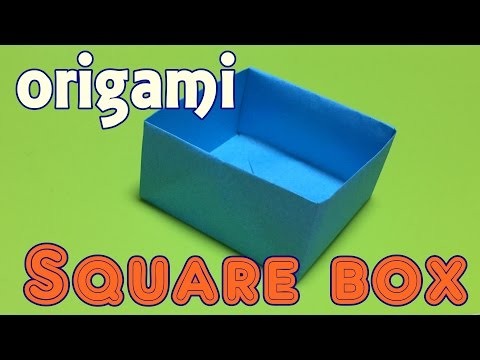 How to make paper square box | origami box tutorial easy only one paper (origami for kids)
