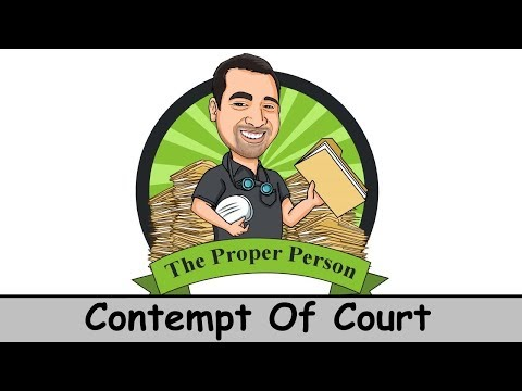 High Conflict Child Custody: Contempt Of Court