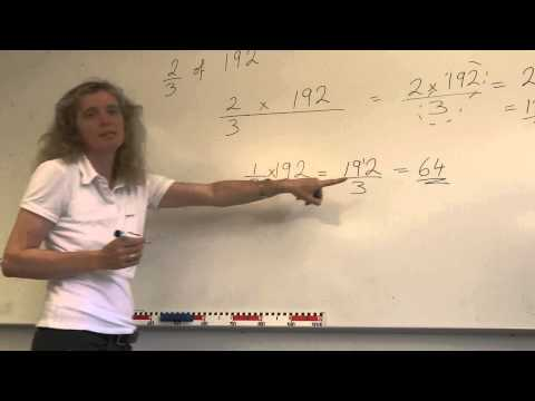 How to find a fraction of a large number, eg 2/3 of 192