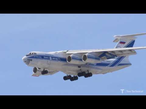 Ilyushin IL-76TD Landing at Perth Airport