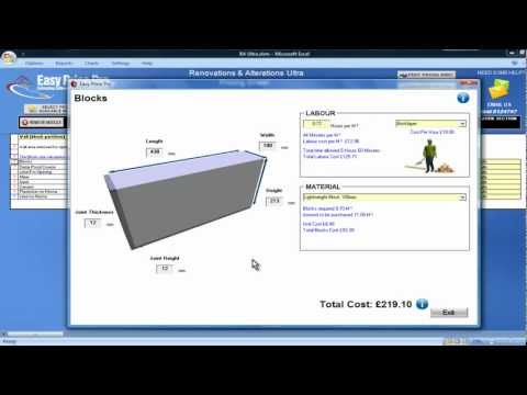 Wall (Block Partition) Estimating Module