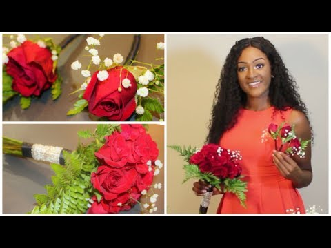 DIY: Bridesmaid's bouquet 💐 & Boutonnieres🌹 using real flowers || Chanelle Novosey