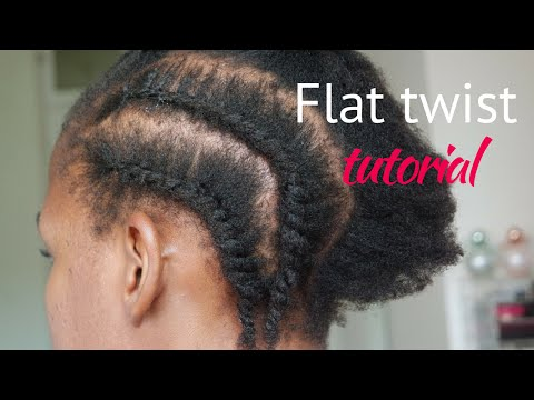 Simple flat twist tutorial for beginners | South African Blogger | ByLungi