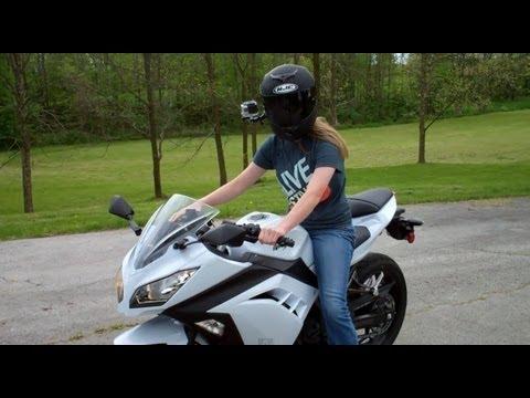 Jade's first time riding a street bike - Kawasaki Ninja 300