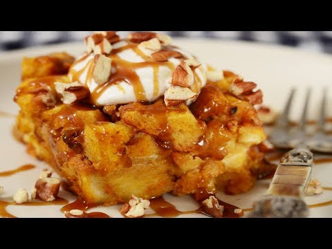 Pumpkin Bread Pudding Recipe Demonstration - Joyofbaking.com