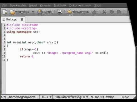 C++ tutorial 15 - command line arguments