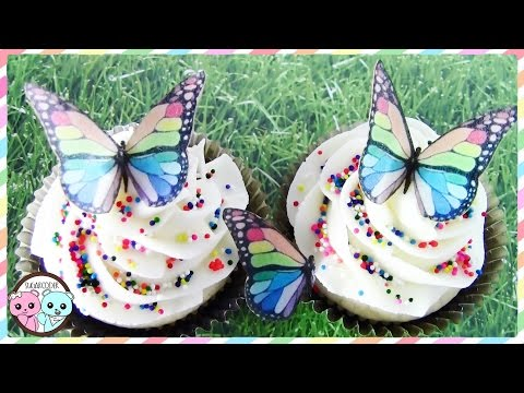 BUTTERFLY CUPCAKES, RAINBOW BUTTERFLY CUPCAKES, BUTTERFLY CAKE