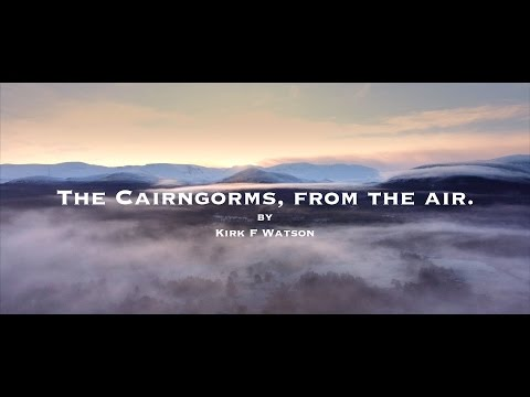 The Cairngorms, from the air.