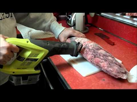 How to Cut A Costco Frozen Beef Tenderloin With A Reciprocating Saw!