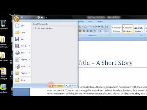 How To Enable Or Show The Developers Tab In Microsoft Word 2007 A Step By Step Tutorial