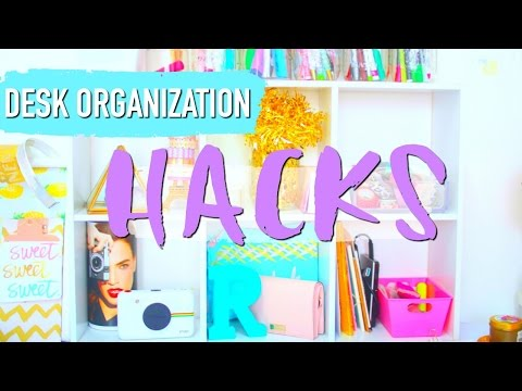 5 BEST Desk ORGANIZATION HACKS | Paris & Roxy