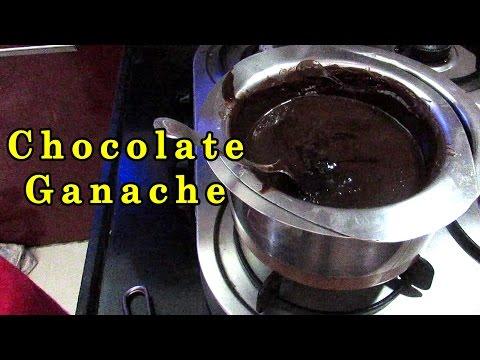 Chocolate Ganache Recipe   for Chocolate Truffle Cake by Geetika [Hindi]