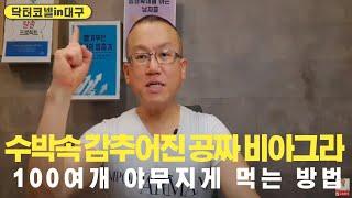 수박속 감추어진 공짜 비아그라 100여개 야무지게 먹는 방법 ft.발기부전 완전 예방