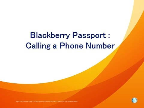Blackberry Passport : Calling a Phone Number