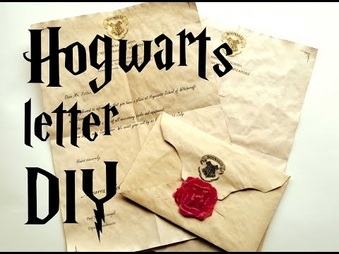 DIY Hogwarts letter - Harry Potter tutorial