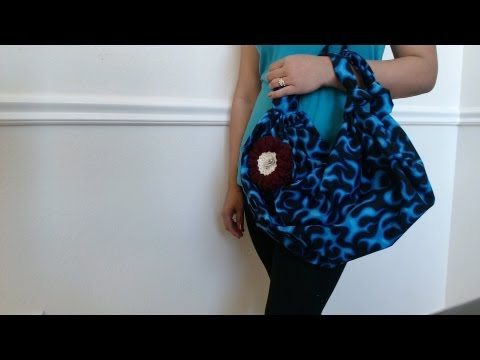 DIY Fashion: No sew handbag in 2 minutes (just 1 yard of fabric 44
