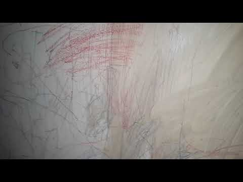 Crayon markings removed from wall