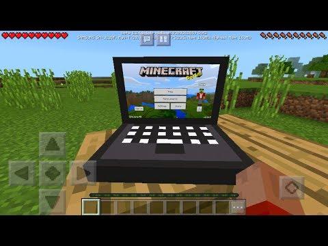 Realistic Laptop Trick in MCPE 1.2! (Minecraft PE)