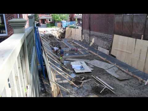Building a new house in Toronto - preparing the footings