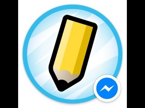 How to Draw somethig and create sticker on messenger Facebook