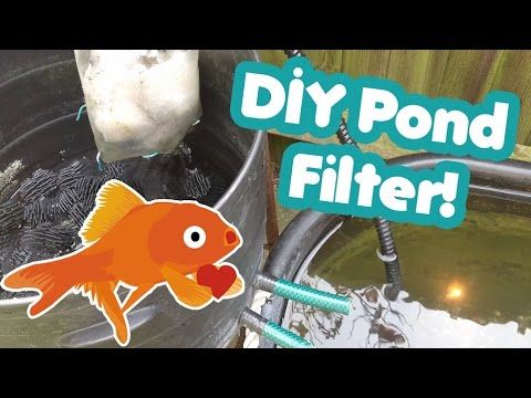 How to make your own basic DIY fish pond filter!
