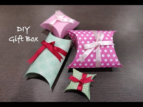 how to make easy gift box   DIY paper gift box tutorial