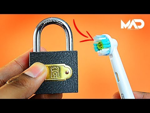 How to pick a lock with a toothbrush