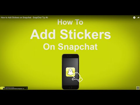 How to Add Stickers on Snapchat  - SnapChat Tip #6