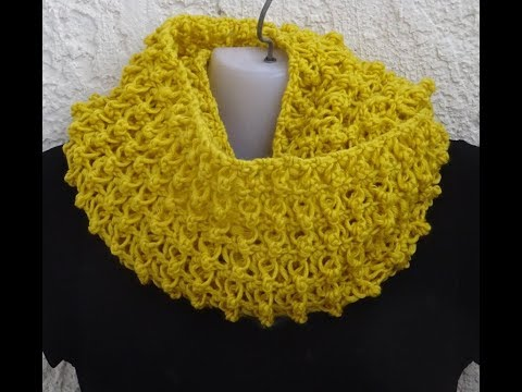 *PRETTY AND EASY PATTERN FOR INFINITY SCARF AND MORE*one row repeat