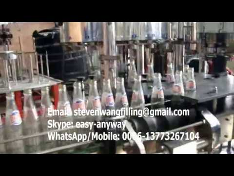 automatic soda filling machine, soda bottling plant, carbonated soft drink filling machine