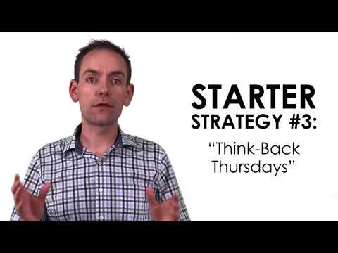 Spiralling Math Class Video Series [VIDEO 3] - 9 Starter Strategies to Begin Spiralling NOW!