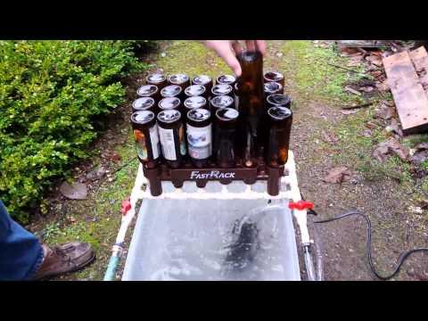 Beer bottle washer and sanitizer