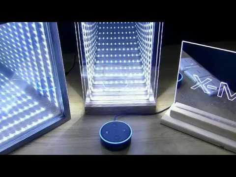 Infinity Mirrors with  Amazon Alexa Echo Dot Smarthome Voice Control
