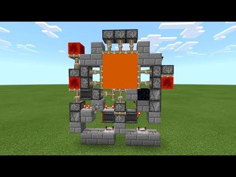 Minecraft - 3x3 DOOR [ 1- wide & Jam-Proof ][ Redstone Tutorial ] MCPE / Xbox / Bedrock