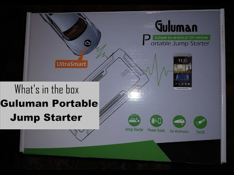 Guluman Portable Jump Starter | What is in the box and how to charge DIY video | #diy #jumpstart