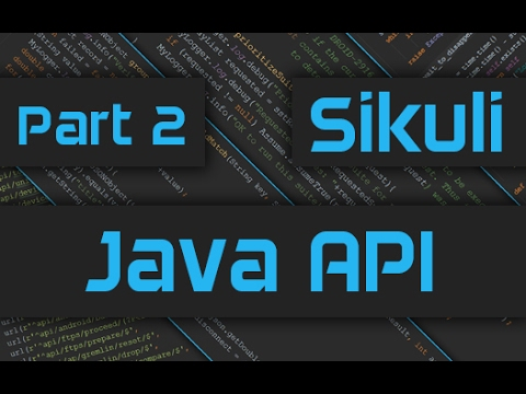 Sikuli Tutorial: How to use Sikuli Java API - Part 2