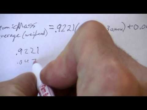 Atomic Mass from Isotope Masses & Abundances