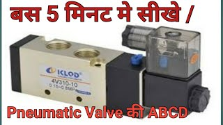 Solenoid Valve working Principle and Construction in Hindi