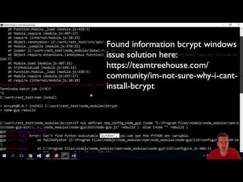 Fixing BCrypt error on Windows