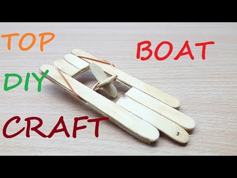 how to make boat with ice cream sticks easy to make