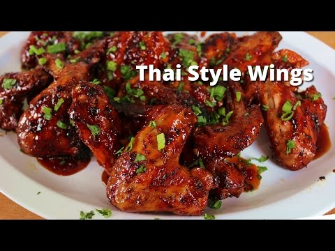 Spicy Thai Style Grilled Wings | Grilled Wings on Big Green Egg with Thai Sauce