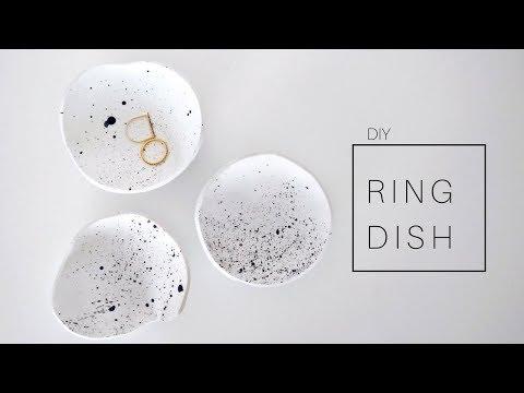 DIY Clay Ring Dish - Jewelry Holder | Minimal Room Decor 2018