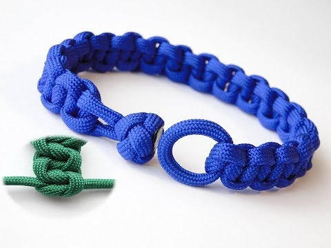 How to Make a Cobra Paracord Bracelet Without Centre Strands-Cobra Knot and Loop-Elastic Weave