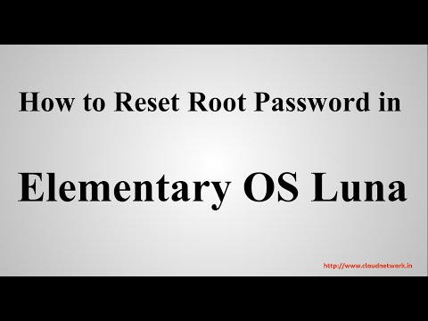 How to Reset Root Password in Elementary OS Luna