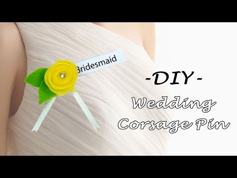 How to Make DIY Wedding Corsage Pin and Boutonniere for a Wedding