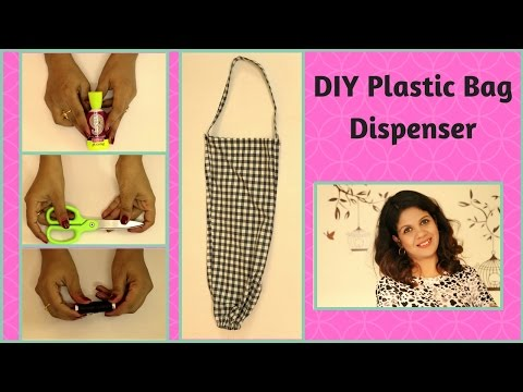 DIY Plastic Bags Dispenser From Old Pant | Polybag Organizer
