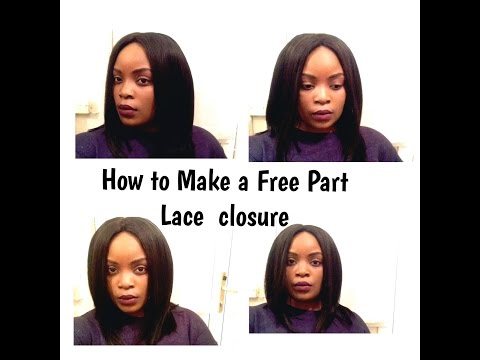 HOW TO MAKE A WIG (WITH FREE PART LACE CLOSURE)- BEGINNER FRIENDLY