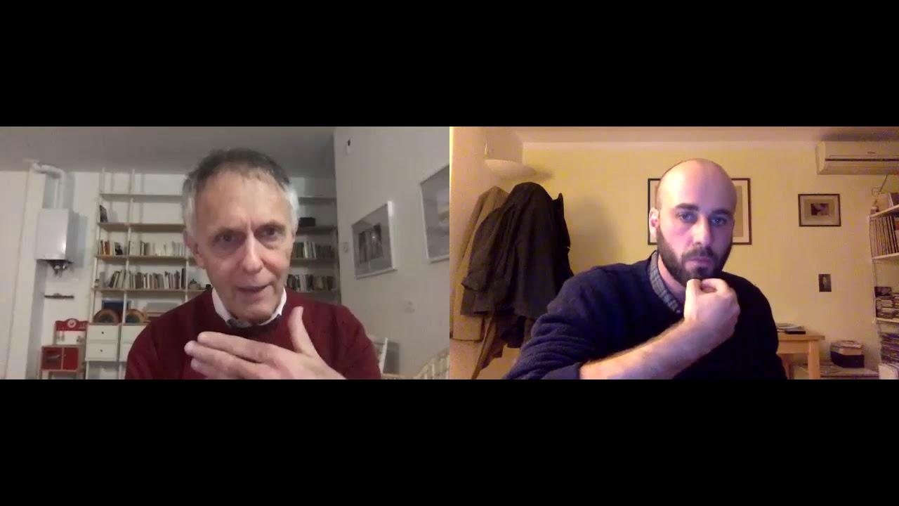 "Carlo Sironi presents ""Sole"" with Prof. David Forgacs"