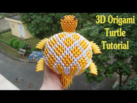 How To Make 3D Origami Turtle | Cómo hacer 3d tortuga origami